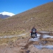 Argentina\'s highest mountain pass at 4.900m, the narrow road is partly pretty muddy and sections are covered in ice... According to Martin one of his hardest drives so far