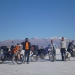 At the Salinas Grandes with Jose, who travels on a 200cc chinese made bike... he seems to love taking risks :))