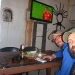 Watching the CL Finals at San Pedro de Atacama
