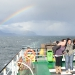 One of the many rainbows we could see during the wet, windy and cold trip on the ferry