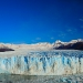 The glaciar shines in beautiful blue color and is know for...