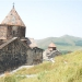 Ancient church Sevanavank at the lake Sevan