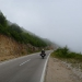 from sunshine to fog after the border to Montenegro