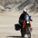Martin enjoying cruising around. Although fully loaded we are amazed how easy our bikes are to handle even offroad...
