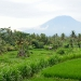 Gunung Agung, a 2567 meter high volcano in the east of the island