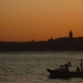 Sunset over Istanbul. View from asian part