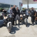 Another KTM Adventure R driver at the gas station. Gabrielle from Italy is on a trip to Armenia and back.