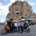 "Good bye pic with our turkish hosts in front of the ""Castle\"""