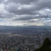 Great view over Bogota from the Montserrate church, built on one of the hills surrounding Bogota