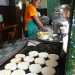 Arepas, the typical fast food in Colombia