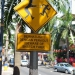 Warning sign in KL. It\'s kind of the first thing we see and not very inviting :D