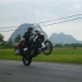 The landscape is beautiful, reason enough for Sebas to salute Malaysia with a wheelie