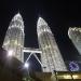 The Petronas Twin Towers at night...