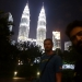The Petronas Twin Towers at night and with us :-)