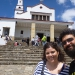 with Jessica at Montserat, a church built on a hill overlooking Bogota
