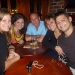 At a night out with Eva, Samantha, Jessica and Tom