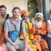 Together with Sadhus, Hindu holy men (who travel around and get smoked up all the time)