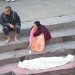 Hindu funeral at Pashupatinath. The corps is first prepared...