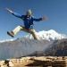 Time to jump!.. with langtang lirung in the background