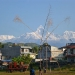 As we leave Pokhara we are blessed with a beautiful clear sky and overwhelmed by the impressing Annapurna mountain range