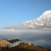 ...on Annapurna South (7.200m). That´s the tea house of the upper camp where we stayed btw..here we are on approx. 3.600m
