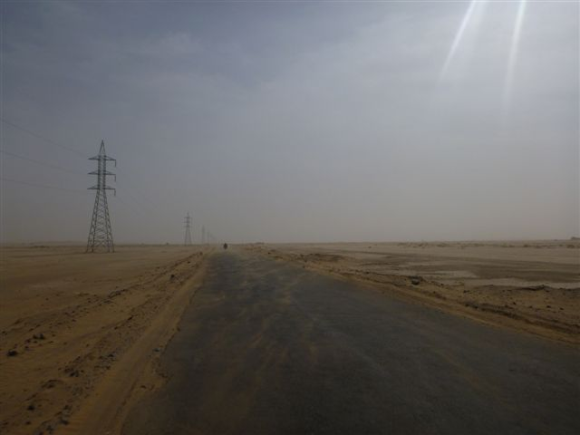 After leaving Dalbandin we drive through the desert...