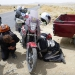 2nd technical problem in the middle of the desert in Pakistan. Janine's bike looses oil