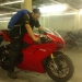 While they fix Sebas cable Martin test-sits a Ducati. Nice design but not his kind of bike...