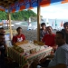 ...at our beach bar at Belice Beach
