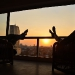 The brothers watching the sunset at Flo\' flat. Did we already mention that his view is just incredible? :-)